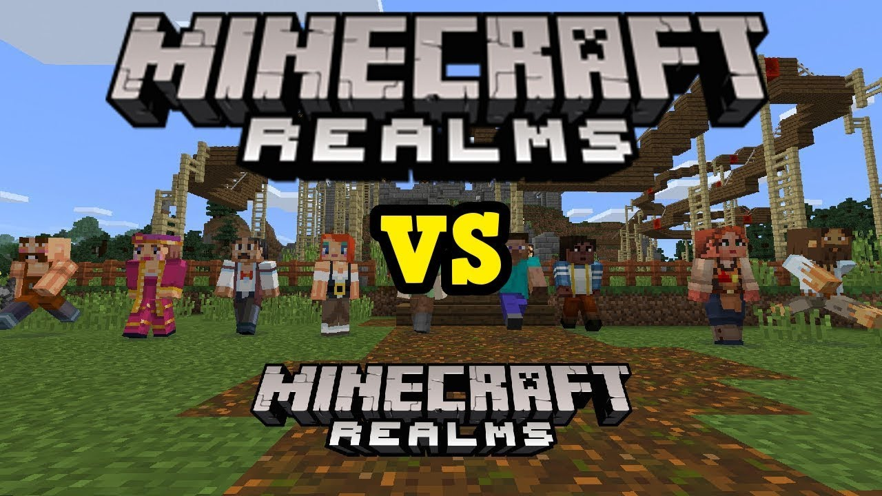 Minecraft Realms vs Minecraft Realms (HUGE DIFFERENCE FROM PE