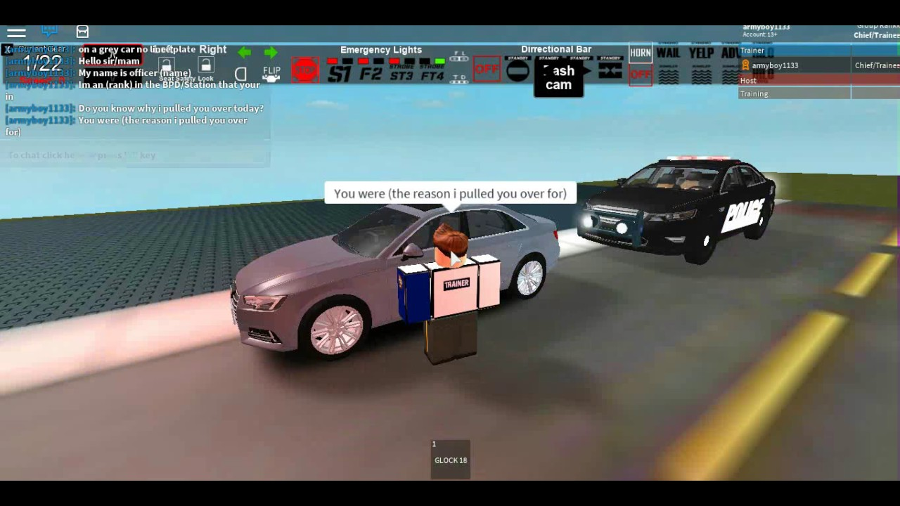 police pull over roblox id