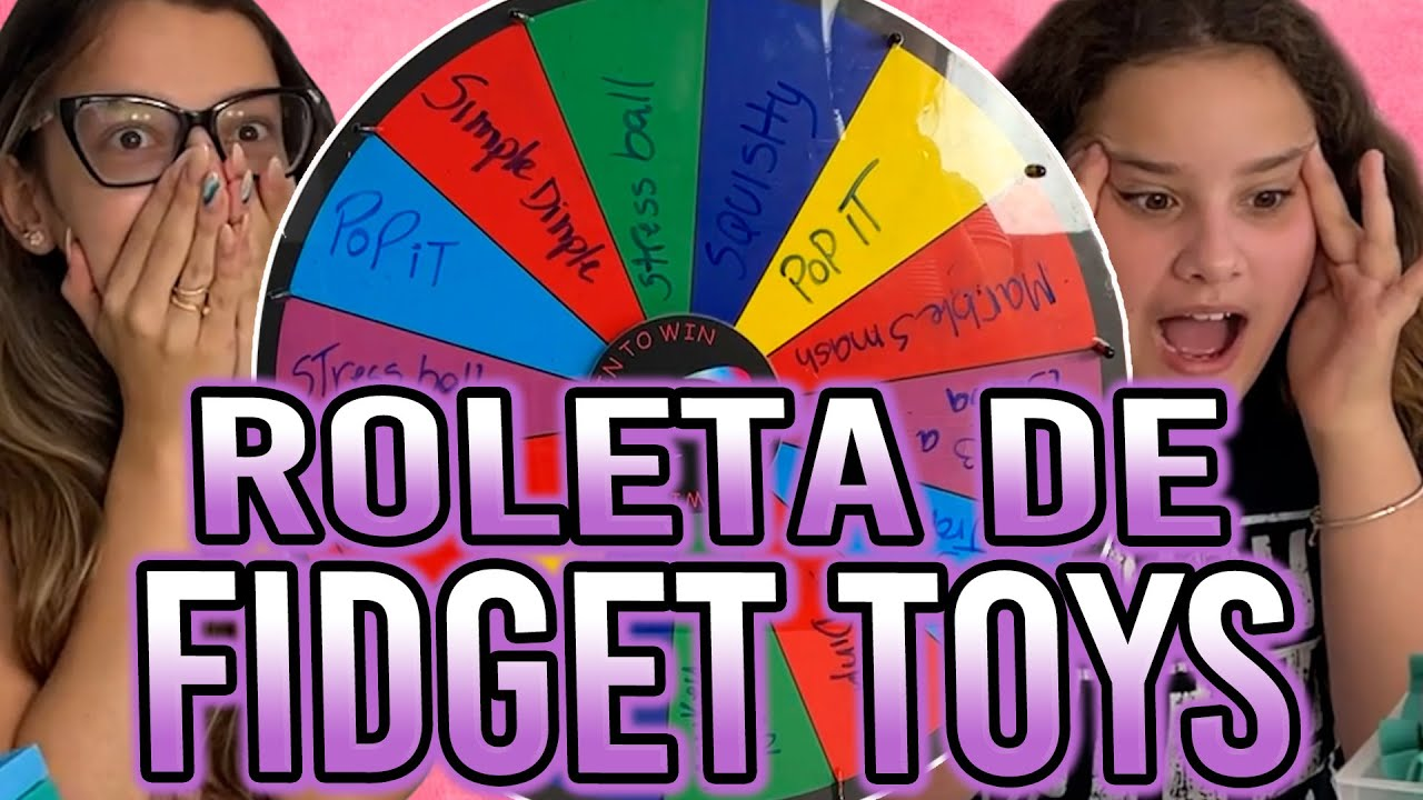 TROCA DE FIDGET TOYS- TROCANDO FIDGET TOYS COM A ROLETA ft: @FamilyFun5