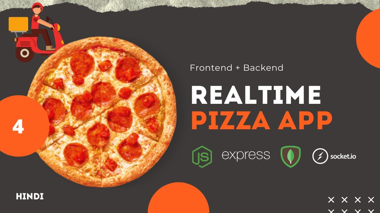 Realtime pizza order tracker app using NodeJs, Express and Mongo DB Part 4