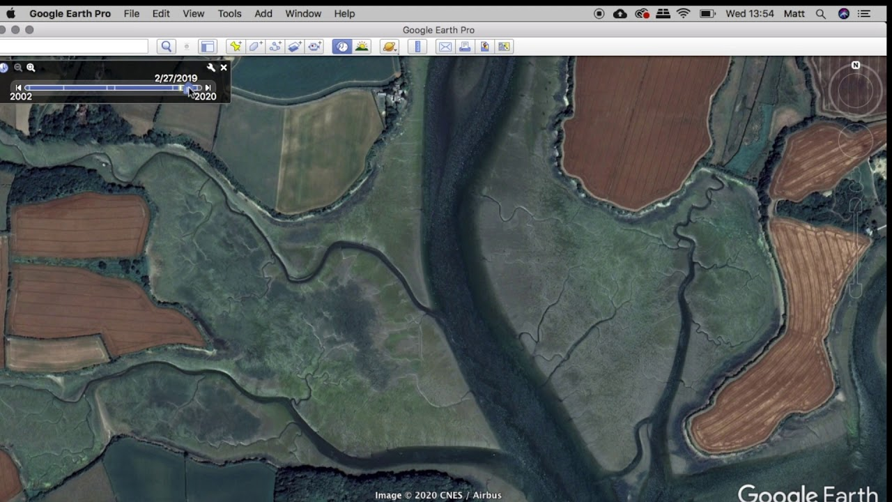 Find fishing marks at various states of tide using Google Earth