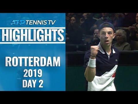 Wild Card Griekspoor stuns Khachanov; Nishikori Survives | Rotterdam 2019 Highlights Day 2
