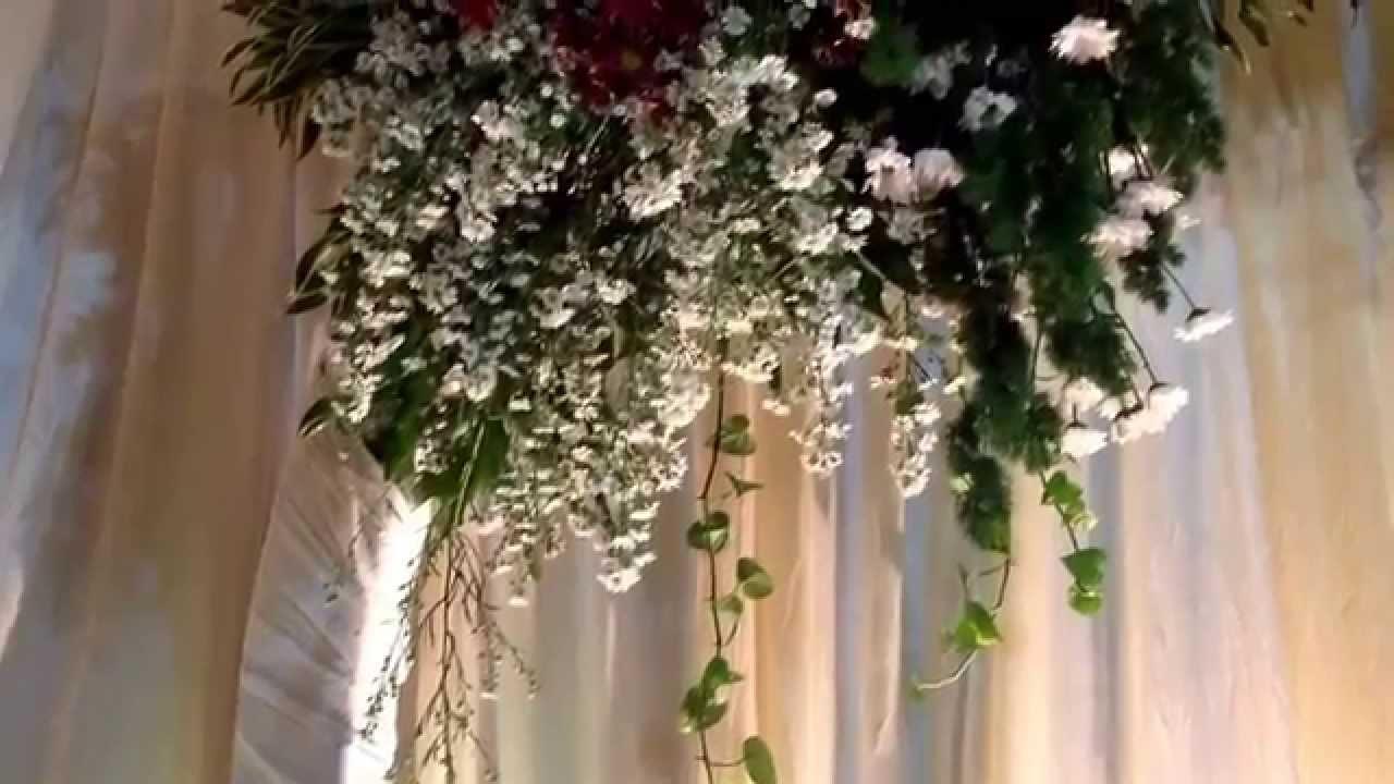 Rangkaian Bunga Dekorasi Pelaminan Sederhana Youtube