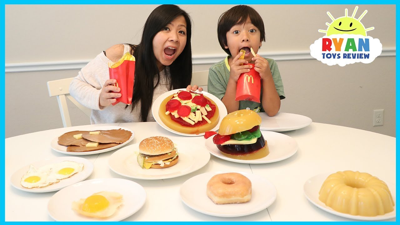 Gummy Food Vs Real Food Challenge Mcdonalds Fries Burgers Taste Test