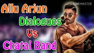 Allu arjun dialogues vs Chatal Band DJ MIX      by telugu MIX