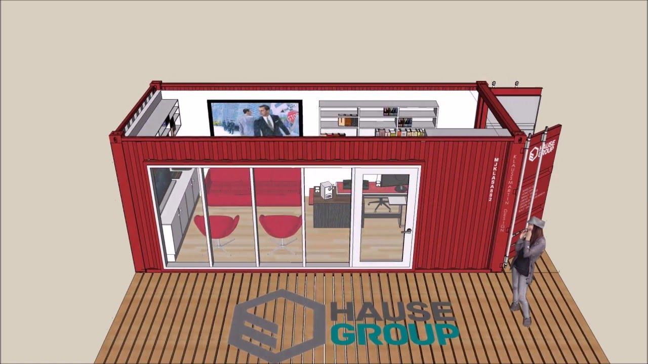 Shipping Container Office by Hause Group on a 20\' Shipping ...