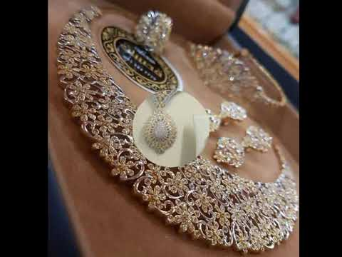 Latest Indian gold new Jewellery Designs collections 2018. http://bit.ly/2LFgXzZ