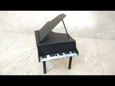 How to make toy Piano using Cardboard/ paper  DIY