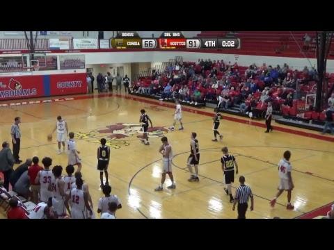 2017-2018 Scott Co Boy's Baskeball vs Cordia 11-28-17