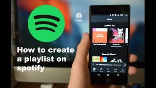 how to create spotify playlist (Android Assist)
