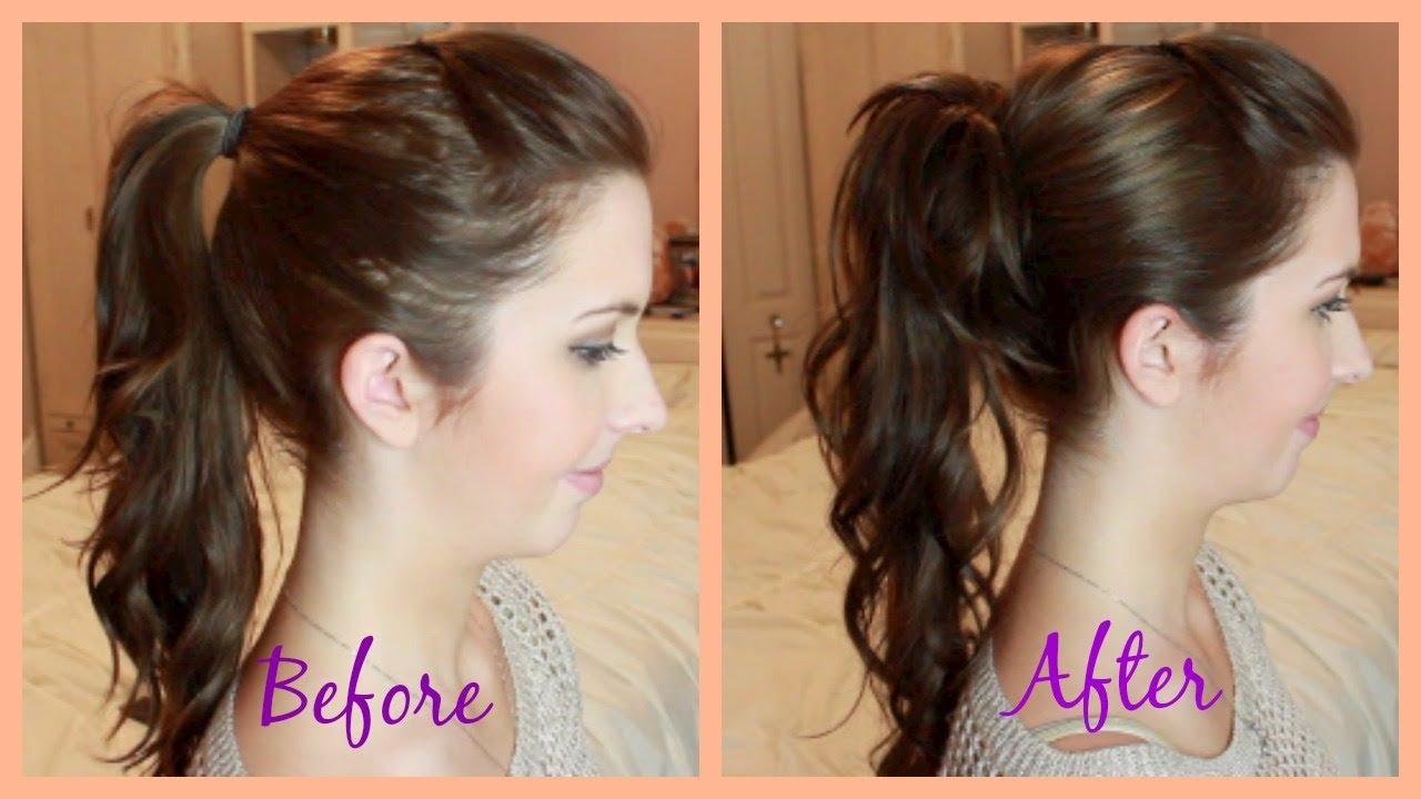 Longer Fuller Perfect Ponytail Hair Tutorial
