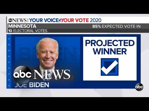 Minnesota projected to be won by Joe Biden