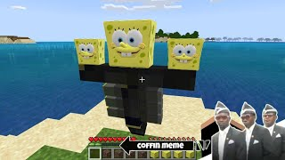 What if you Spawn Wither Spongebob in Minecraft - Coffin Meme