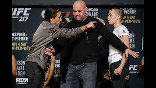 UFC 217: Joanna Jedrzejczyk vs. Rose Namajunas Staredown - MMA Fighting