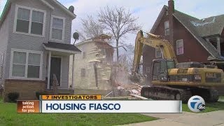 Neighorhood revitalization gone bad as nearly new homes are demolished and sent to the landfill