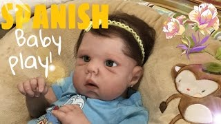 Reborn Play Time IN SPANISH| Silicone Doll| ROLEPLAY| Baby Talk