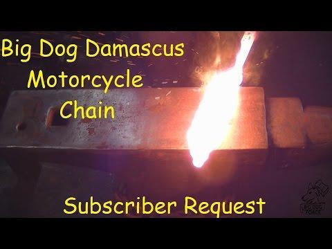 Blacksmithing/Forging Motorcycle Chain Damascus