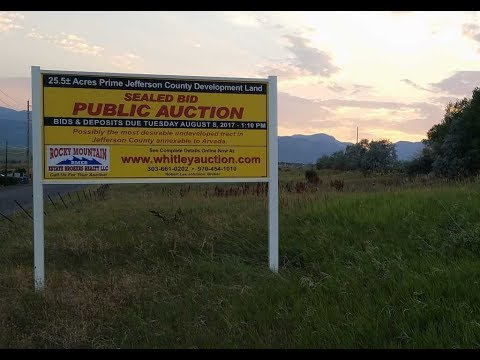 Arvada Jefferson County Land Auction Written bids due 8 8 17
