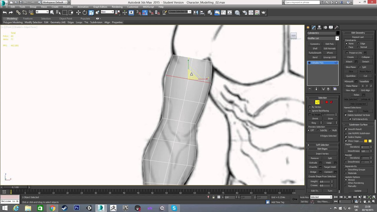 beginner guide to character modelling in 3ds max part 2 arms rh youtube com Revit to 3D Studio Max 3d s max beginner tutorial