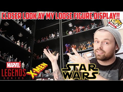 MY LOOSE FIGURE DISPLAY!! P.O. BOX /SDCC FUNKO POPs/MARVEL LEGENDS/STAR WARS BLACK SERIES!!