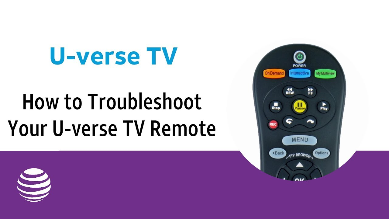 How to Troubleshoot Your U-verse TV Remote Control | U-verse TV Support