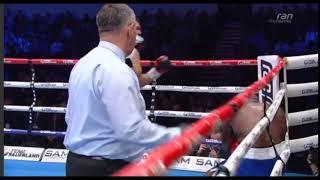 Нокдаун экс-боксера «Astana Arlans» в бою с бывшим соперником Джошуа и Фьюри