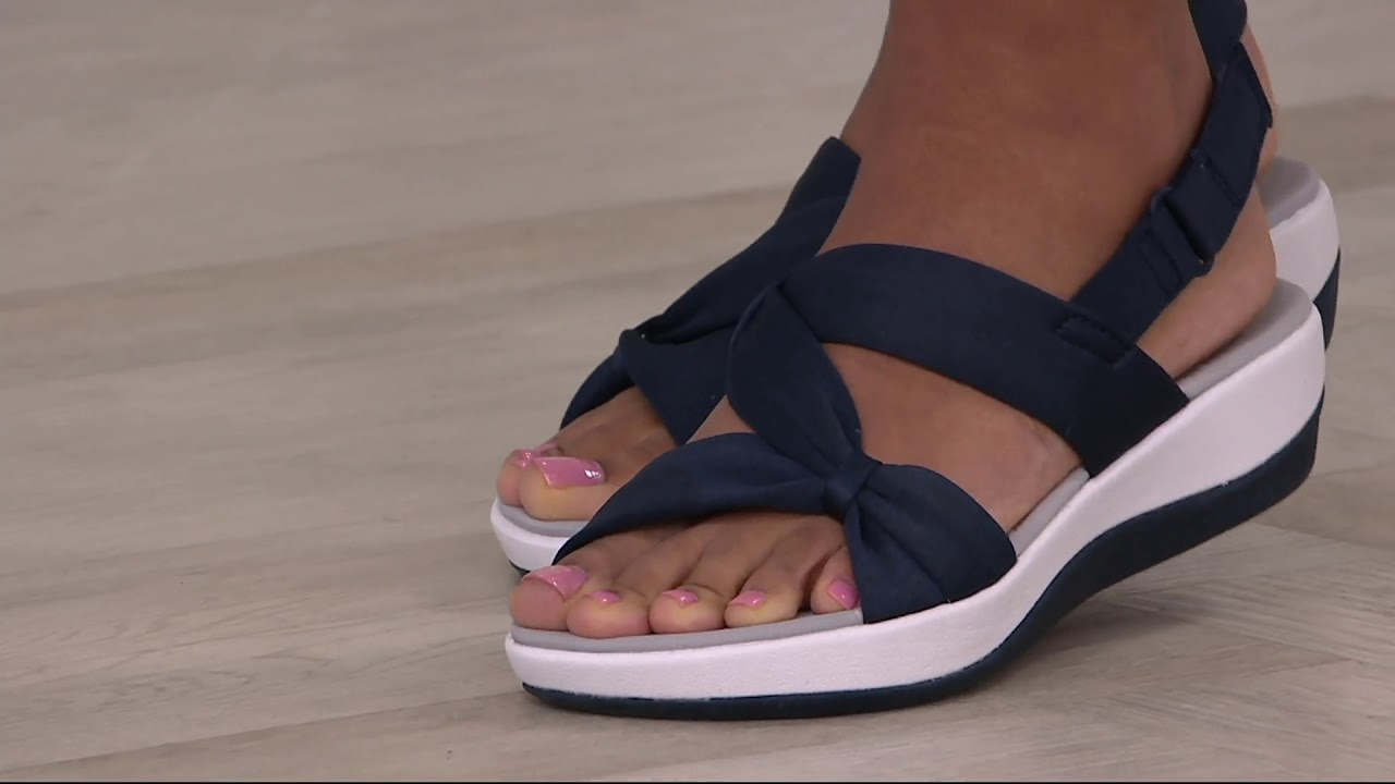 471baf9ef51 CLOUDSTEPPERS by Clarks Sport Sandals - Arla Primrose on QVC - YouTube