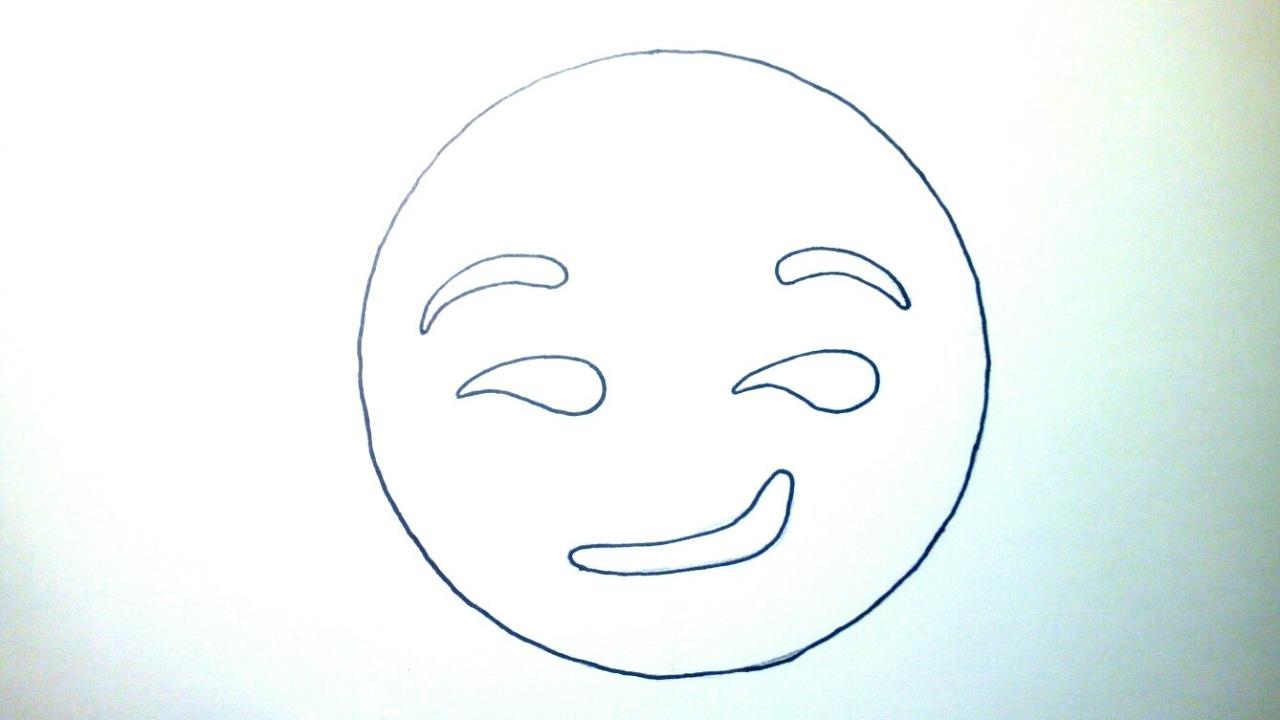 Emoticones Whatsapp Cómo Dibujar Un Emoji Sonrisa Pícara A Lápiz Paso A Paso Fácil Para Niños Youtube