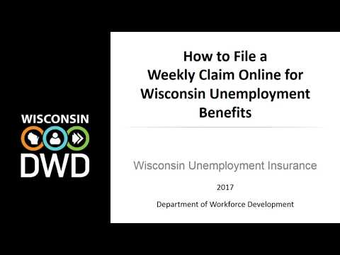 How To File A Weekly Claim Online For Wisconsin Unemployment Insurance Benefits