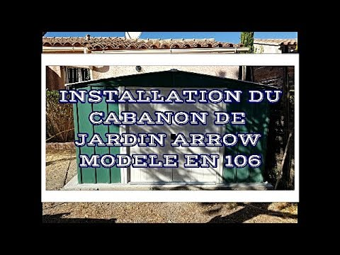 installation cabanon de jardin arrow mod en106