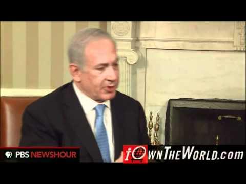 Barack Obama Israeli Prime Minister Benjamin Netanyahu White House discussing 1967 Borders @Mr_Pinko