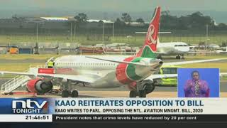 KAAO reiterates opposition to the aviation bill