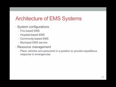 Paramedic Care I Introduction to Emergency medical Services Systems