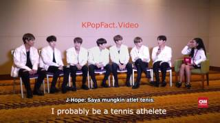 Video ENG SUB - BTS INTERVIEW WITH CNN INDONESIA IN JAKARTA PART 2 download MP3, 3GP, MP4, WEBM, AVI, FLV Januari 2018