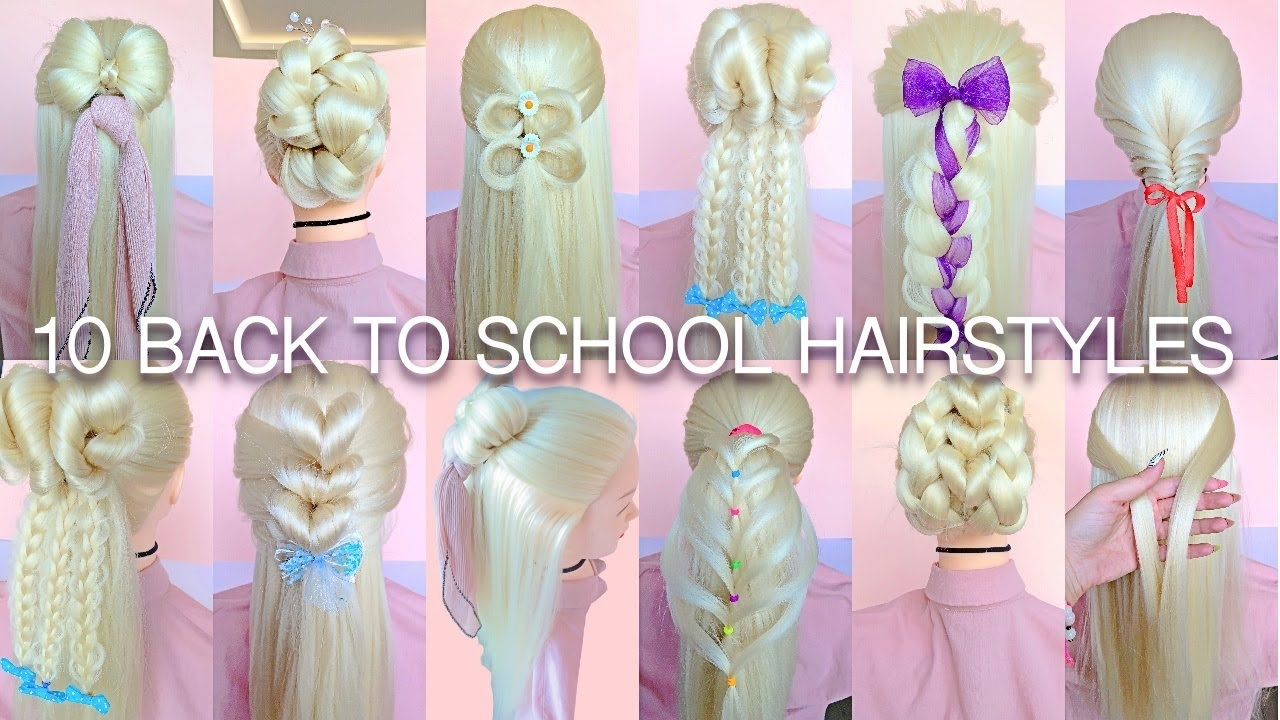 10 EASY BACK TO SCHOOL HAIRSTYLES YOU CAN MAKE IN 5 MINUTES
