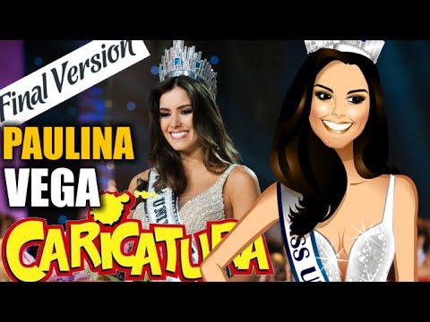 Miss UNIVERSE 2014 - Caricature of PAULINA VEGA - Colombia