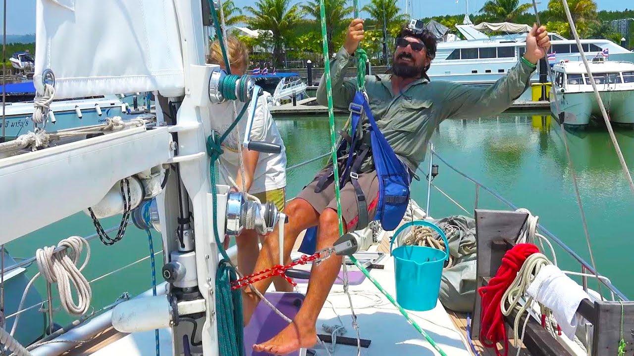 Replacing standing rigging w/ boat in water - Cruising