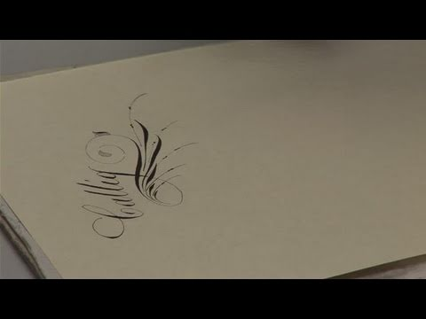How To Do Decorative Flourishing For Calligraphy Youtube