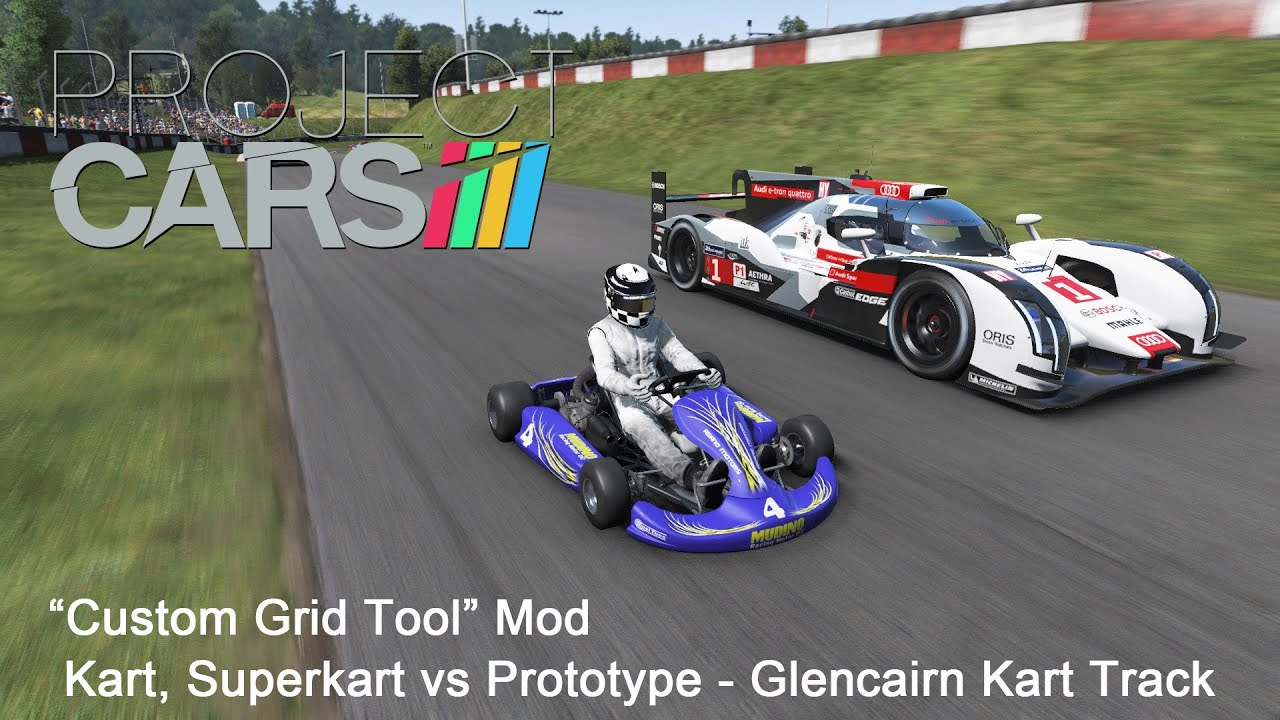 project cars custom grid mod kart superkart vs prototype glencairn kart track youtube. Black Bedroom Furniture Sets. Home Design Ideas