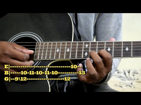 Mohabbatein  guitar lead/tab lesson with written tabs