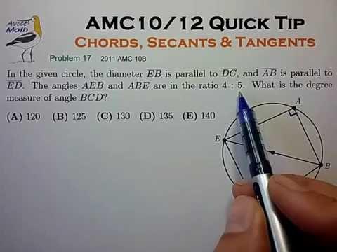 AMC10/12 Prep: Chords, Secants & Tangents