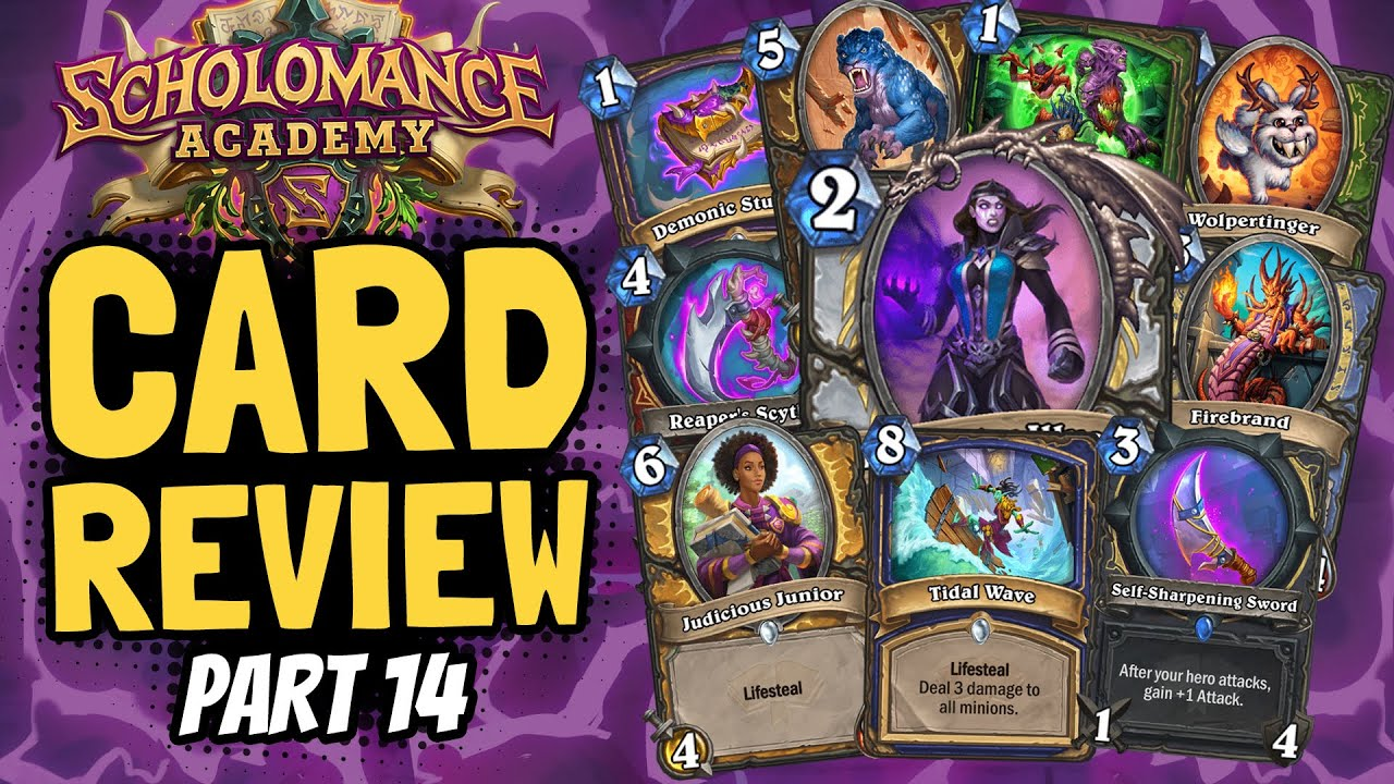 ALL REMAINING CARDS!! My Biggest Review Ever! | Scholomance Review #14 | Hearthstone thumbnail