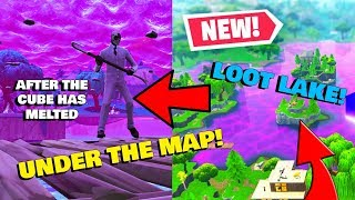 Fortnite Glitches: *Under The Map LOOT LAKE* (After The Cube Has Melted) Fortnite Battle Royale!