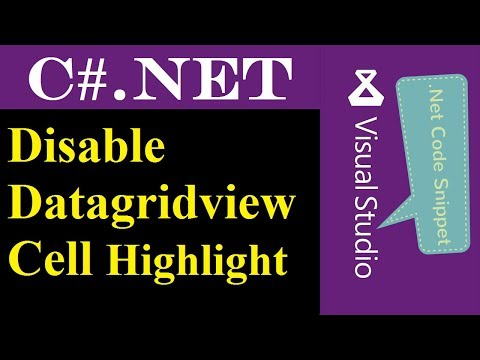 C# NET : Disable Datagridview Cell Hover Background color