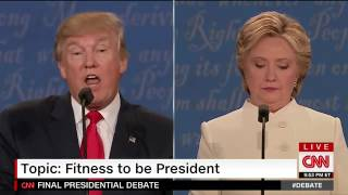 Trump and Clinton on Trump's fitness to be president