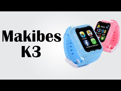 Makibes K3 - Safety watch for kids / GPS locating + safe zone settings / Waterproof + color display
