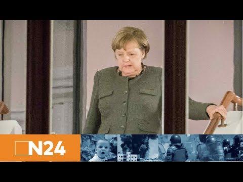Vier Wochen nur Gerede?: Angela Merkel versucht verzweifelt Jamaika-Trümmer zu retten