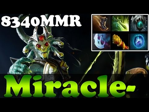 Dota 2 - Miracle- 8340MMR Plays Medusa - Pub Match Gameplay