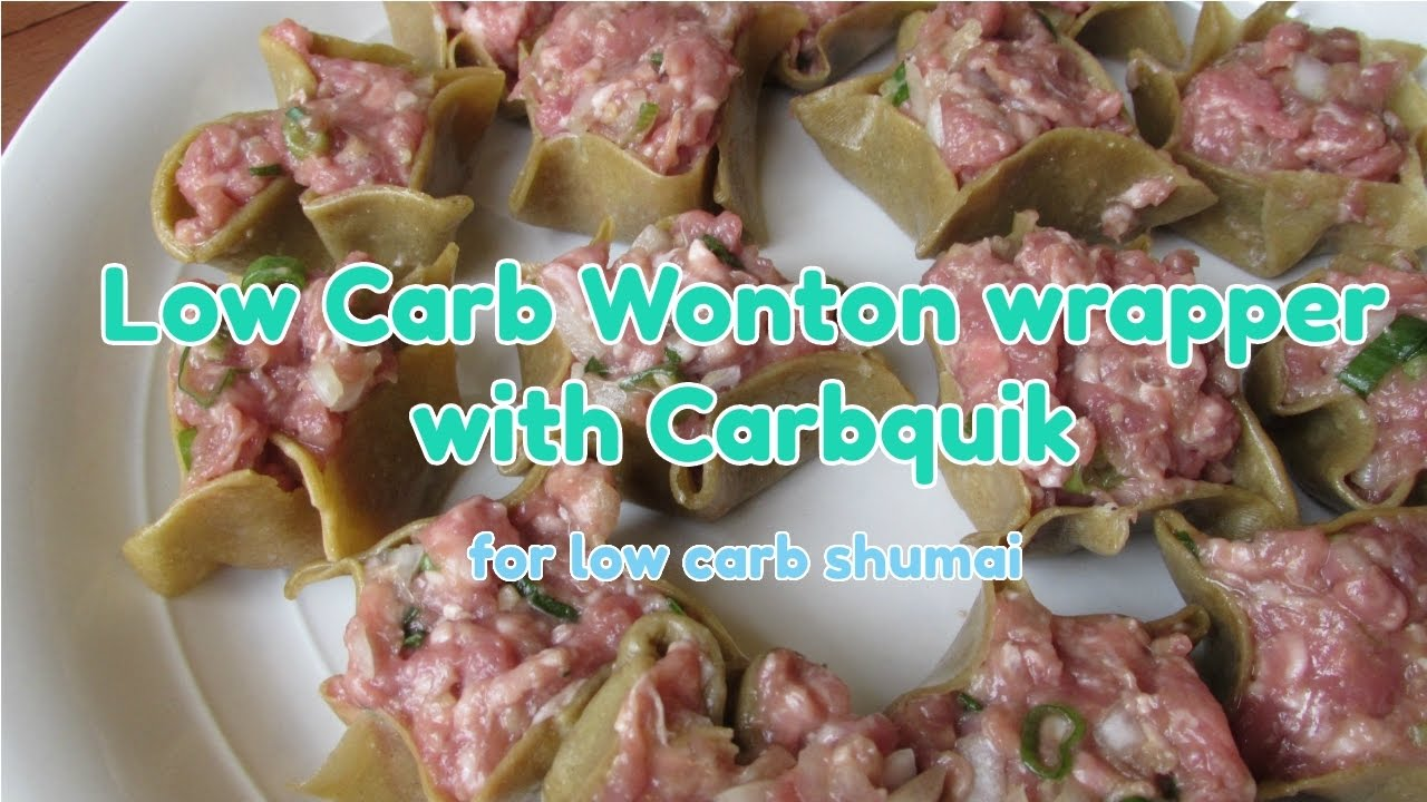 Low carb wonton wrap - YouTube