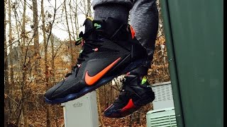 nike lebron xii 12 data review on feet